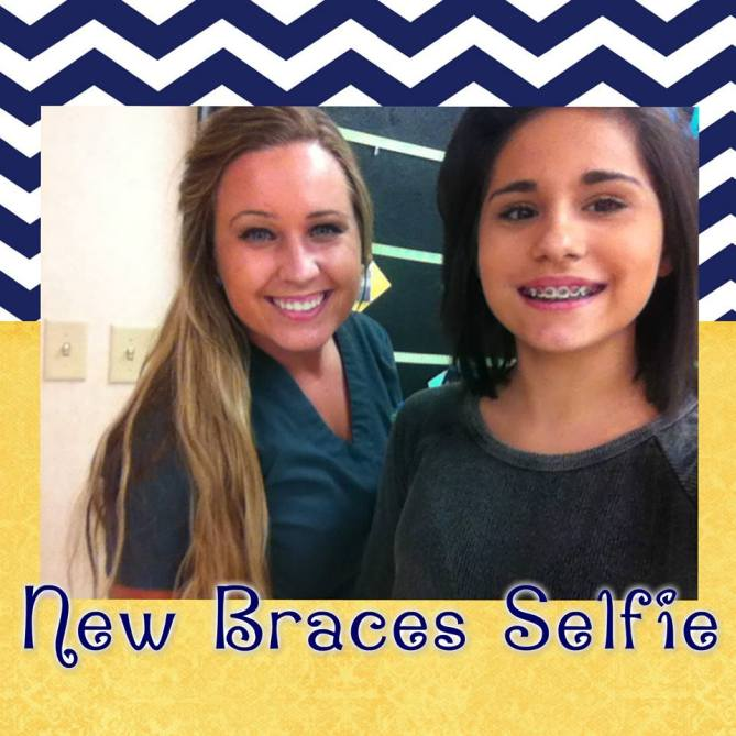 Orthodontic Assistant Melissa with patient getting braces on