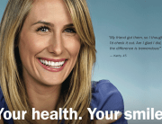 Female Orthodontic patient smiling