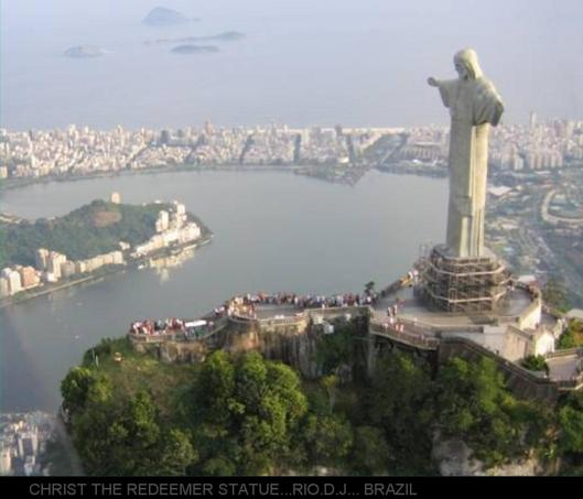 CHRIST THE REDEEMER STATUE...RIO.D.J... BRAZIL