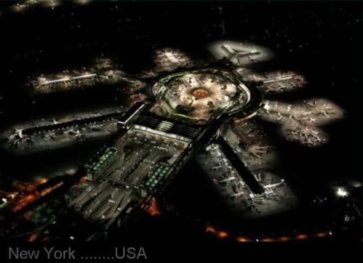 BUSIEST  AIRPORT..... NEW YORK  Night view