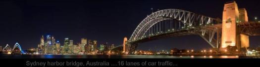 WIDEST  BRIDGE .. AUSTRALIA