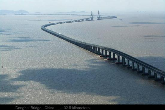 Donghai Bridge , China ........32.5 kilometers