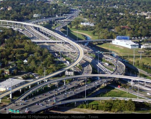 Interstate 10 Highways Interchange.. Houston , Texas