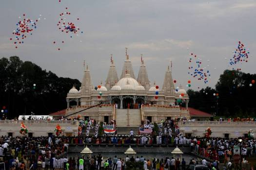 Shri Swaminarayan Mandir in Atlanta, Georgia.