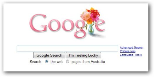 Google 2009 Mothers Day Logo
