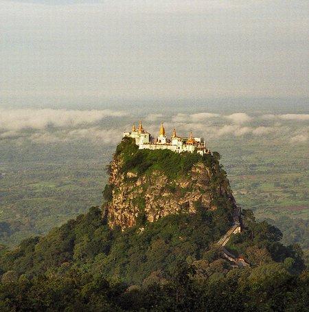 Monastery Built on a Volcanic Plug