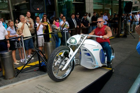 Siemens Unveils the First Custom 'Green' Electric Chopper