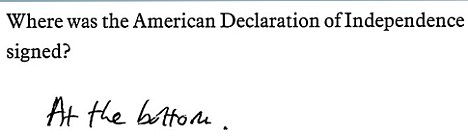 Where was the American Declaration of Independence signed?