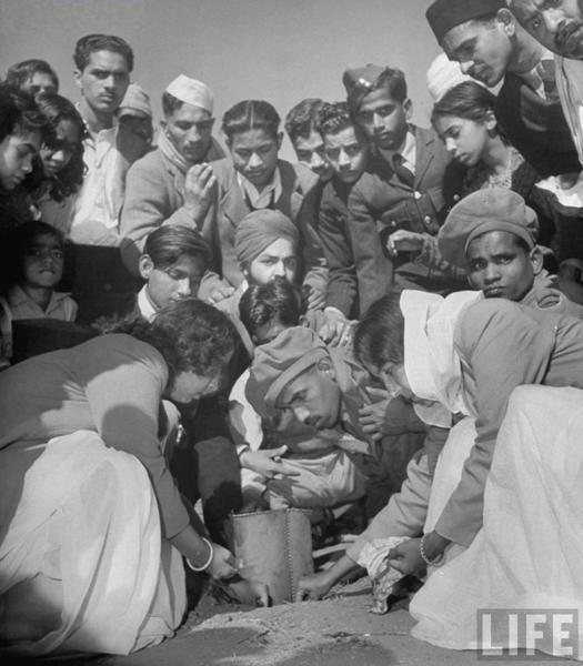 Mahatma Gandhi's Funeral.