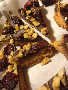 Cranberry Walnut Chocolate Brickle