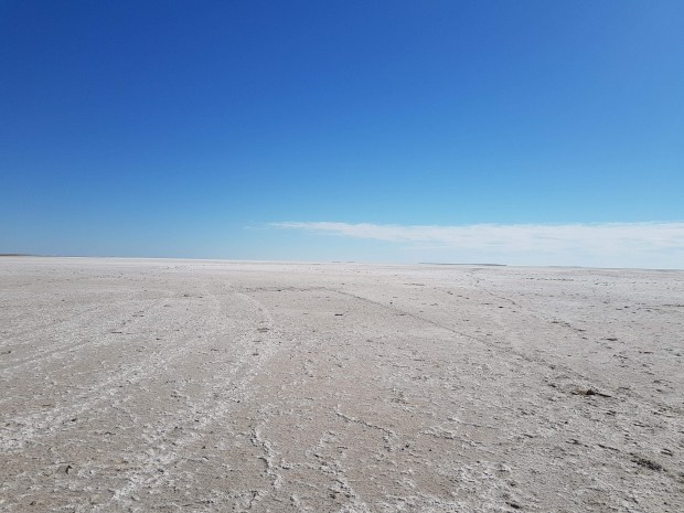 Lake Eyre in Outback Australia