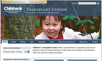 Seattle Children's Hospital Transplant Center website