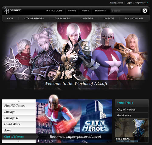 NCsoft West new home page