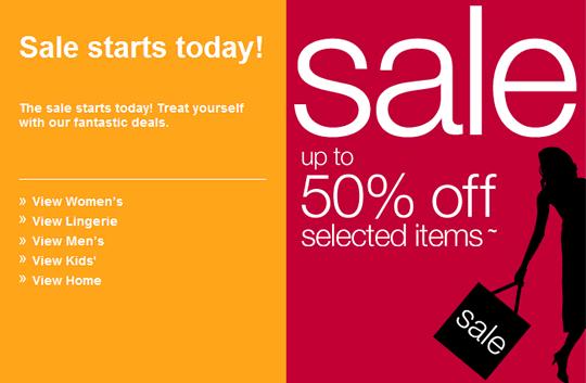 Marks and Spencer sale email design