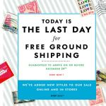 Last Day for Free Ground Shipping Kate Spade email