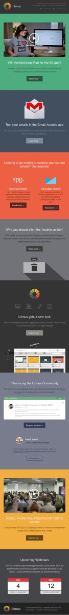 Test your emails in Gmail Android app Litmus email