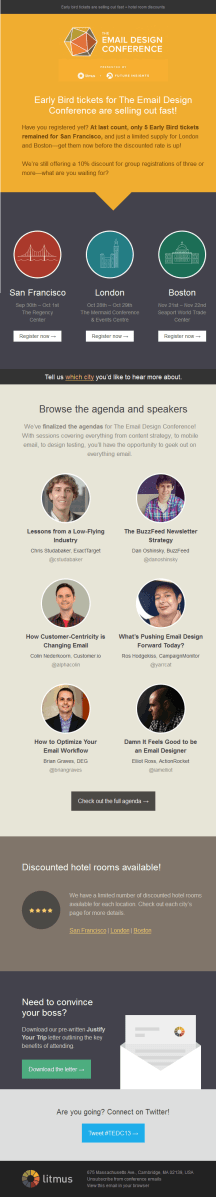Litmus email design conference