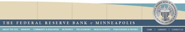 Minneapolis federal reserve bank website navigation