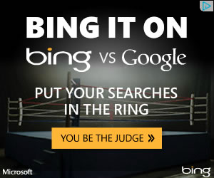 Bing banner ad design example