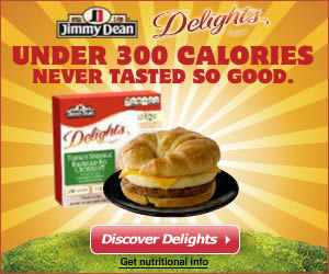 Jimmy Dean banner ad design example