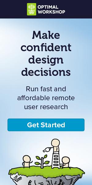 Optimal Workshop banner ad design example