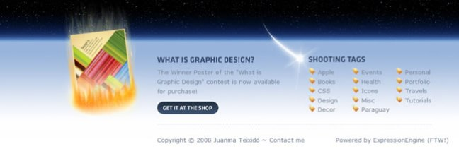Ten Thousand Things website footer design example