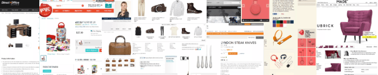 Ecommerce product page design gallery banner