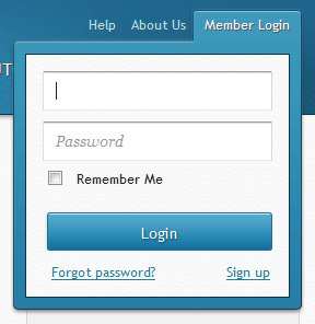 Experts Exchange login form design example