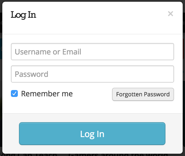 Gizmodo login form design example