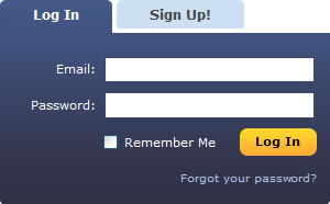 MySpace login form design example