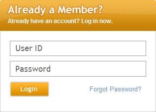 Zadby login form design example