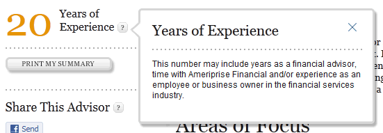 Ameriprise web tooltip design example