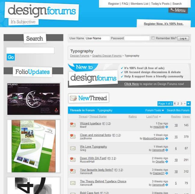 Design Forums forum design example