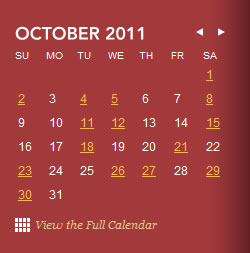 San Francisco Opera calendar and date picker design example