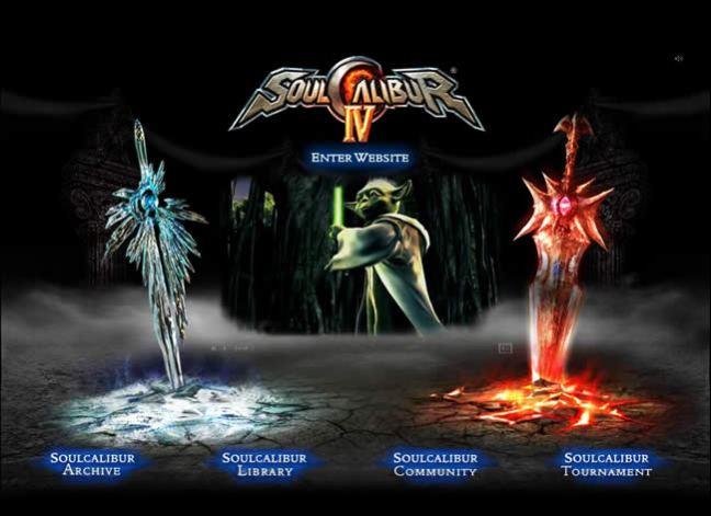 Soul Calibur 4 video game website design example