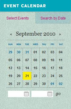 Springtime in Tennessee calendar design example