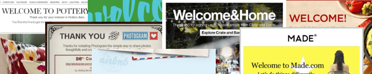 Welcome email design gallery banner