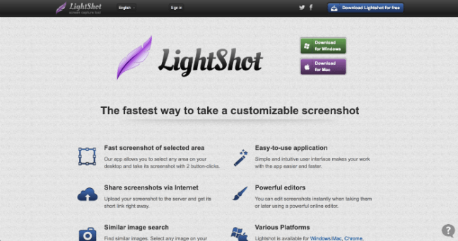 Lightshot screenshot app
