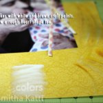 {Tutorial Thursday: paint and stitch on your scrapbooking layouts}