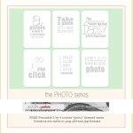 {Freebie: Printable Photo themed cards}