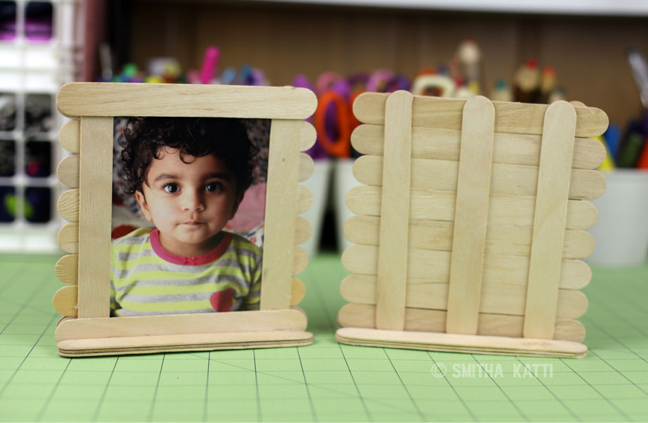 Popsicle Photo Frames: Make it with kids Monday - Smitha Katti