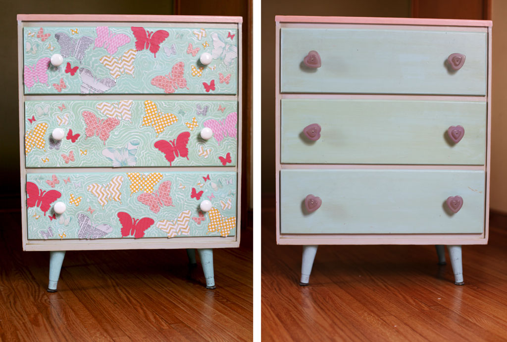 Decoupage dresser tutorial that will easily transform your