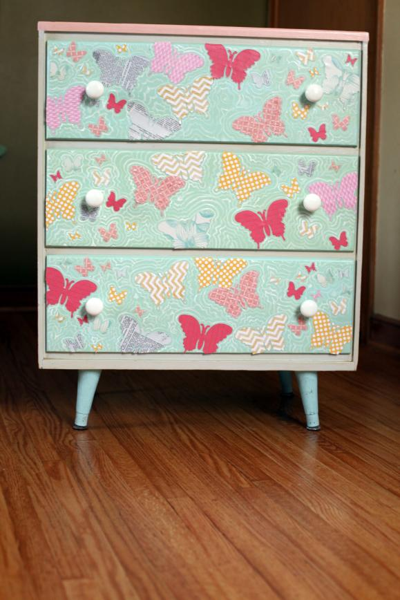 Decoupage Dresser Tutorial That Will Easily Transform Your Old