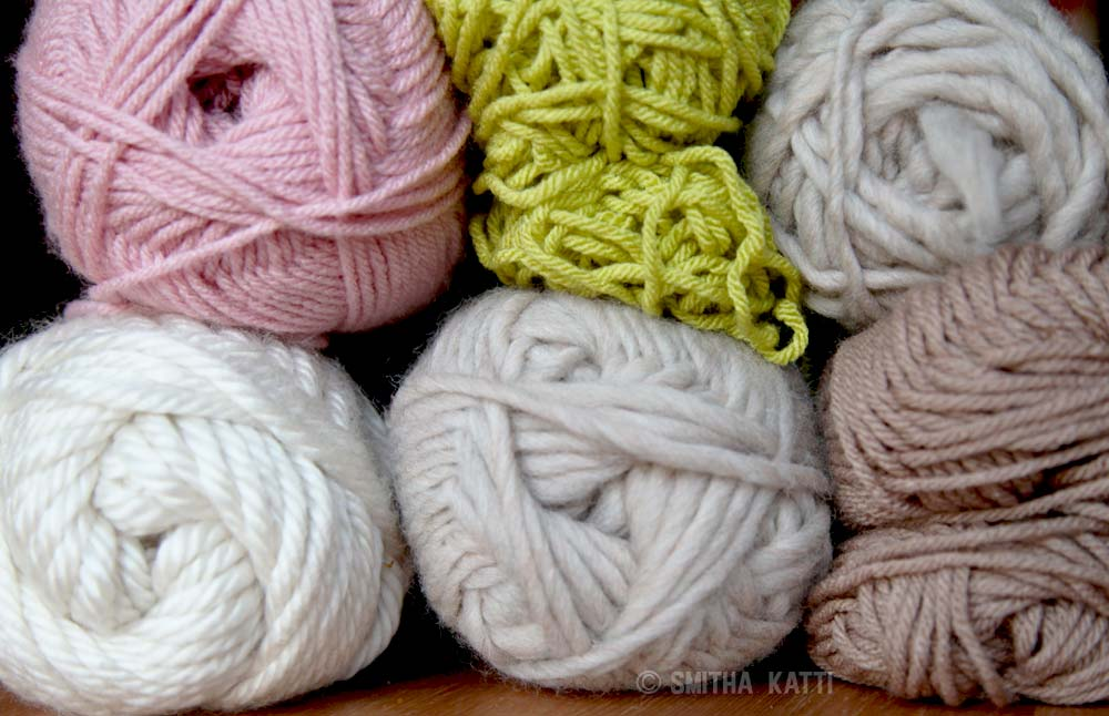 textured yarns pastel colors