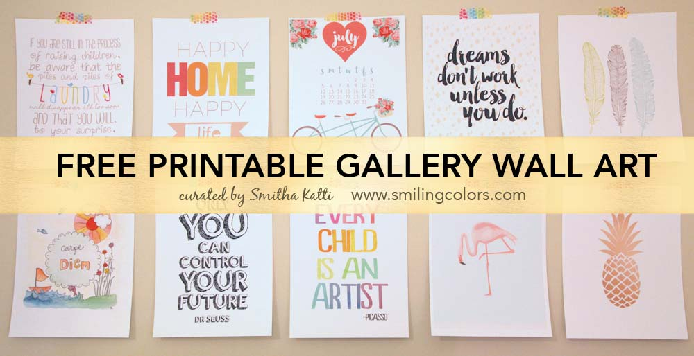 graphic regarding Free Printable Wall Art named Printable gallery wall artwork that will create your space glimpse contemporary