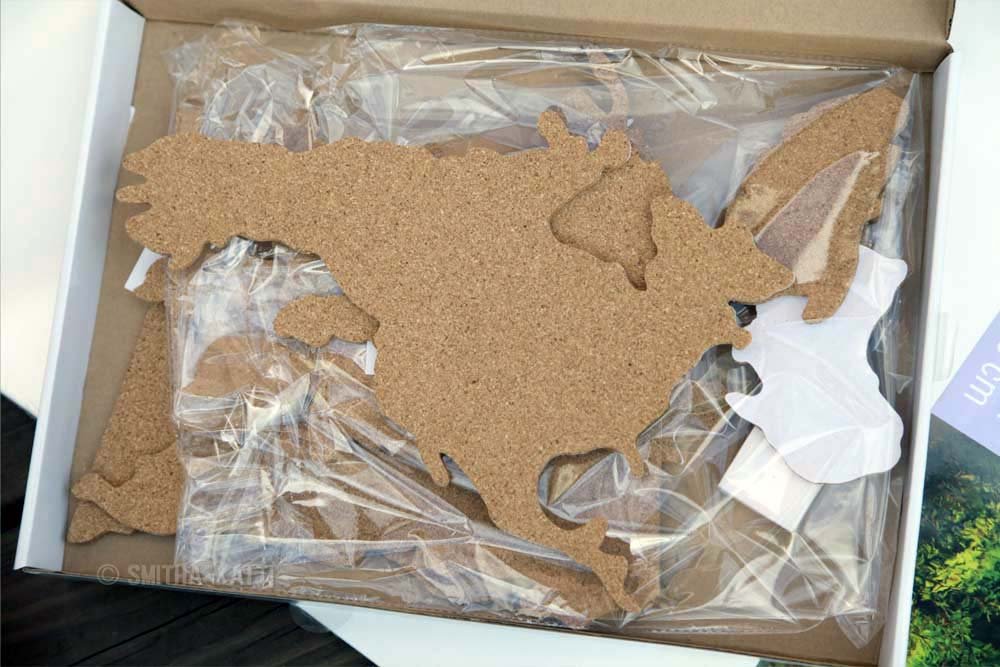 diy world map wall art cork