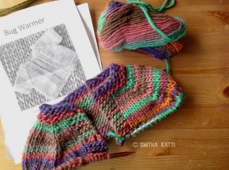 Quick Knit Girls Cardigan that is knit as one single piece