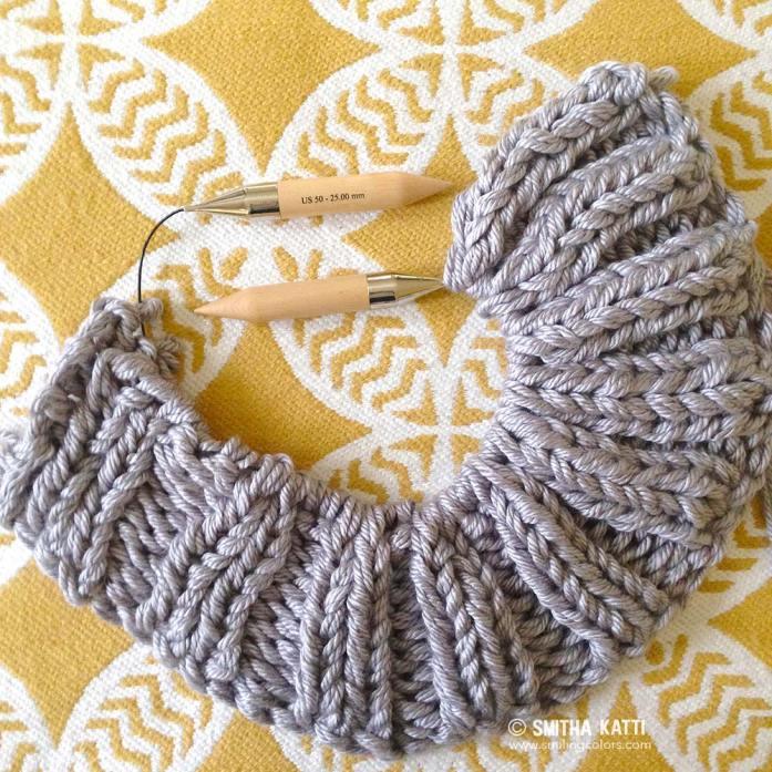 Bulky knit blanket free pattern - Smitha Katti