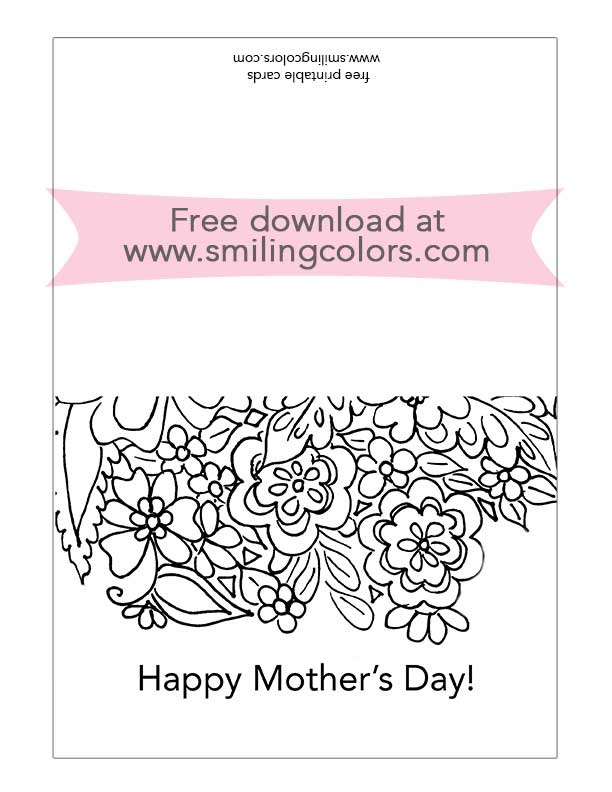 It's just a photo of Printable Mothers Day Cards to Color Pdf in number