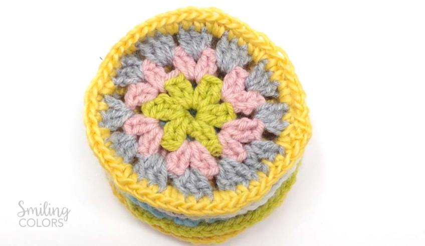granny circle crochet how to